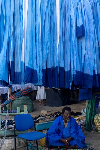 Blue... on Nouakchott's market, Mauritania