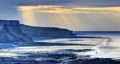 Hook Line and Sinker (pauldunn52) Tags: beach morning light shafts wick glamorgan heritage coast wales