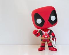 Deadpool. (Suggsy69) Tags: nikon d7200 deadpool popvinyl marvel stanlee character figure figurine gun thumbsup