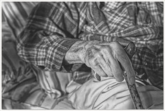 Project 365 - Day 022: Dad (Rex Block) Tags: dad nikon d750 dslr 50mm f18g monochrome bw cane elder senior hand project365 365the2019edition 3652019 day22365 22jan19