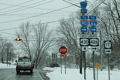 NY430 West NY426 North To I-90 I-86 NY17 CR1 Signs (formulanone) Tags: newyork snow ny430 430 i86 86 i90 90 ny426 426 sum856