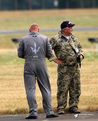 Wonder what he flies? RAF Fairford, Gloucestershire (Kev Slade Too) Tags: su27 egva raffairford riat2018 gloucestershire