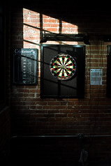 Darts (JustinHood) Tags: champaign illinois bar pour bros beer darts window fujifilm x100