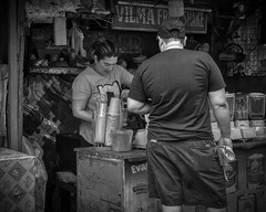 Buying Drinks (Beegee49) Tags: street fruit stand refreshing drinks filipina selling bacolod city philippines