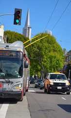 San Francisco : Feu vert pour le trolleybus ! (02.05.2018) (thomas_chaffaut) Tags: sanfrancisco california usa sfmta muni bus trolleybus autobus newflyer excelsior xt60 greenlight trafficlight streetsofourworld transport instatransport transit kingsvehicles kingstransports tvtransport onboardsf discover neverstopexploring travel holidays