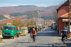 Trucks and bycicles. Pirot. (Chris Firth of Wakey.) Tags: pirot serbia