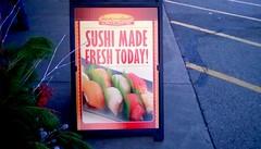 Supermarket sign - SS (Maenette1) Tags: sushi japanese fish roll jacksfreshmarket menominee uppermichigan signsunday flicker365 allthingsmichigan absolutemichigan projectmichigan