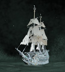 Flying Dutchman (sebeus) Tags: lego flying dutchman pirates caribbean davy jones sails masts ship galleon rigging shrouds lateen mizzen main hollandais volant