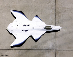 This look-down view of the X-36 Tailless Fighter Agility Research Aircraft on the ramp at NASA's Dryden Flight Research Center, Edwards, California, clearly shows the unusual wing and canard design of the remotely-piloted aircraft. Original from NASA . Di (Free Public Domain Illustrations by rawpixel) Tags: afrl airforceresearchlaboratory aircraft aircraftcarrier airliner airplane amesresearchcenter army aviation boeingphantomworks drydenflightresearchcenter engine f112engine flight flying mcdonnelldouglas military mission moffettfield name neuralnetalgorithm pdnasa publicdomain reconfigurablecontrolfortaillessfighteraircraft remotelypilotedaircraft research restore science software soldier technology transport turbofan williamsinternational x36