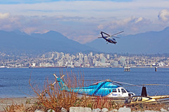 Helijet Heliport and North Vancouver 15-0309-3010 (digitalmarbles) Tags: landscape waterscape view scenic sun clouds sky skyline water ocean oceanfront waterfront harbour harbor dock heliport helicopter helicopters bay containers mountain mountains coalharbour vancouver lowermainland bc britishcolumbia canada canoneosrebelt5 canon