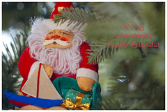 Merry Christmas 2018! (Karon Elliott Edleson) Tags: merrychristmas 2018 santa sailboat ornament greetings flickrfriends happynewyear friendships