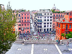 IMG_7246 Spanish Steps (Cyberlens 40D) Tags: europe europeancities rome italy travel destinations sites sightseeing landmarks architecture buildings urban streets housing business
