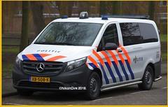 Dutch Police Vito Rotterdam. (NikonDirk) Tags: traffic politie nikondirk dutch nederland netherlands holland nikon cop cops hulpverlening mercedes benz vito 116 cdi xb508k