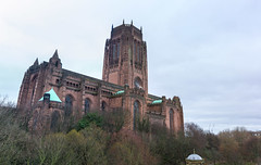Liverpool Cathedral (Philip Brookes) Tags: liverpool cathedral church building architecture winter tree stone brick sandstone woolton merseyside britain uk england