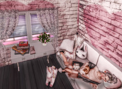 Post Holidays Slumber (Brooklyn MacIntyre) Tags: innocent fashion 3 adored fantasy cutie second sl cute girl catwa catya babygirl stunning maitreya secondlife famous gorgeous playful sensual sexy portrait serene peaceful pink kawaii lolita illustration dolly beautiful beauty photo dreamy dream vintage happy doll 2019 pig piggy unicorn window windows curtain curtains couch bunny pillow pillows blanket flowers games slippers