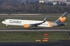 Condor  Boeing 767-330(ER) D-ABUD (widebodies) Tags: düsseldorf dus eddl widebody widebodies plane aircraft flughafen airport flugzeug flugzeugbilder condor boeing 767330er dabud