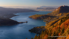 Lake Annecy, France (My Planet Experience) Tags: annecy lake lac lacdannecy sunset autumn fall blue water mountain sky landscape forclaz alpes haute savoie french alps france f myplanetexperience wwwmyplanetexperiencecom
