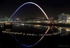Gateshead Millennium Bridge (MikeOB64) Tags: bridge gateshead millennium river tyne reflections night