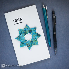 Robin Star (Maria Sinayskaya) Tags: 2dorigamistar folded mariasinayskaya modularorigami origami origamiring origamistar square washipaper мариясинайская