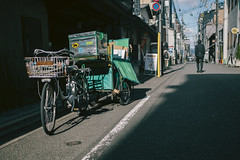 Kyoto | Japan (William Self) Tags: japan kyoto delivery bike bicycle businessman walking