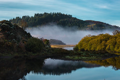 inchigeelagh (viewsfromthe519) Tags: inchigeelagh cork county corcaigh ireland rural mountains morning sunny mist fog boats reflection water lake trees