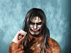 """"""" The Face of Hatred """" (maka_kagesl) Tags: second secondlife sl life virtual videogame game gaming joker paint clown evil horror scary creepy portrait"""