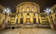 'Stortinget' - 1660-_G2A7081-HDR (Robert Rath) Tags: travel oslo night nightphotography stortinget norway parliament hdr architecture city photography politics grandeur