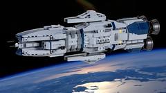 UNN Baikal Class Heavy Destroyer (Rphilo004) Tags: lego biakal class heavy destroyer unn expanse spaceship spacecraft space ship