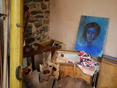 Aberystwyth - in an antique shop (Dubris) Tags: wales cymru ceredigion aberystwyth painting picture portrait blue antiqueshop