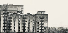 Chelsea Mini Storage (Professor Bop) Tags: urban nyc newyorkcity manhattan professorbop drjazz olympusem1 blackandwhite bw monochrome chelsea structures mosca