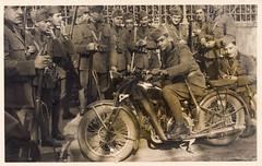 Giacinto Tatarelli, 1936 (Robert Barone) Tags: 1936 italia italiani italians italy allievoufficiale firenze fotodepoca vintage 1930s florence motorcycle giacintotatarelli