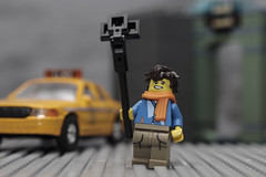 Selfie Guy (N.the.Kudzu) Tags: tabletop toys lego selfieguy hoscale taxi canondslr canoneflens lightroom