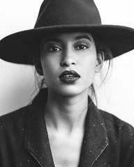 Basma (aminefassi) Tags: fashion mode portrait people blackandwhite beauty hat black aminefassi sony a7riii 85mmf18 morocco
