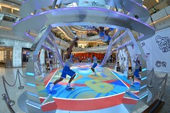 Shanghai - Basketball in the Mall (cnmark) Tags: china shanghai pudong lujiazui financial district bright light building interior modern architecture adverising stage basketball ifc shopping mall 中国 上海 浦东 陆家嘴 世纪大道 国金中心 商场 ©allrightsreserved