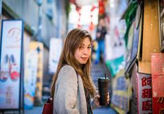 九份山城街道上 (CasaDeAM) Tags: jiufen keelung taiwan women wman portrait girls pretty