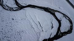 Islands for a day (aerojad) Tags: vopnafjörður easternregion iceland is dji mavic mavicpro dronephotography drone 2018 landscape vacation travel wanderlust iceland2018 stream river creek lookdown snow snowscape snowing