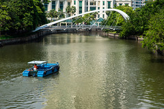 Cleaning (Thanathip Moolvong) Tags: river boat clean work duty profession job singapore