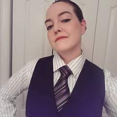 Heather (bof352000) Tags: woman tie necktie suit shirt fashion businesswoman elegance class strict femme cravate costume chemise mode affaire