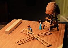 Farmers Building a Windmill (Clashmaker) Tags: lego crafts miniature