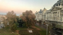 Ministry of the Interior and Gresham Hotel (RobW_) Tags: early morning view interior ministry gresham hotel sofitel budapest hungary amaviola danube 16nov2018 november 2018