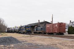 Arriving at Quakertown (Dan A. Davis) Tags: eastpennrailroad espn eastpenn b237 railroad train locomotive freighttrain quakertown eastrockhill pennsylvania pa