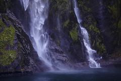 Stirling Falls    Milford Sound (David Marriott - Sydney) Tags: southlandregion newzealand nz milford sound stirling falls waterfall water south island fiordland ovation seas cruising