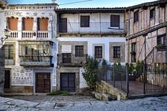 Eclectic Architecture (Jocelyn777) Tags: buildings architecture architecturaldetails facades doorsandwindows decoration houses villages towns historictowns oldtown historiccentres candelario spain travel