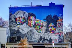 US NY NYC - Warhol, Kahlo, Haring, Basquiat mural by Kobra Kobra in Chelsea (David Pirmann) Tags: nyc newyorkcity mural art streetart kobrakobra chelsea highline andywarhol keithharing fridakahlo jeanmichelbasquiat basquiat haring kahlo warhol samsung nx1100