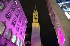 Munich - Pink... (cnmark) Tags: germany munich deutschland münchen bavaria bayern stpeter sankt peter kirche church architecture architektur night nacht nachtaufnahme noche nuit notte noite pink light rosa licht ©allrightsreserved