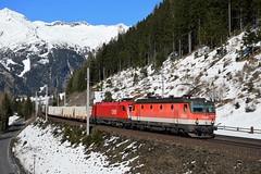 1144 283 + 1016 006, G 54535, Mallnitz-Nord (M. Kolenig) Tags: rca 1144 1016 tauernbahn baum wald schnee berg