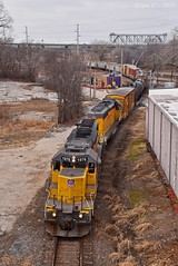 Eastbound Transfer in Kansas City, MO (Grant G.) Tags: up union pacific railroad railway locomotive train trains east eastbound transfer freight emd power yard job kansas city missouri