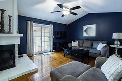 Love this blue colors living room design with the angled ceiling which make it so unique  #livingroom  #interiordesign  #homedecor #homestyling #decorideas #designideas #interiorwarrior #interior4all #interior123 #interiorstyling #interior4you1 #interior4 (CoolHomeStyling) Tags: instagram ifttt