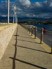 Latchi habour walll (Jonathon Bennett Photos) Tags: nature street habour rope sea boats captureone phaseone shadow clouds sky cyprus latchi