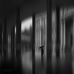 The man in the cage (Mariano Belmar Torrecilla) Tags: sombras murcia bw blancoynegro monocrome umbrella